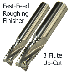 3 Flute Fast Feed Spiral Upcut